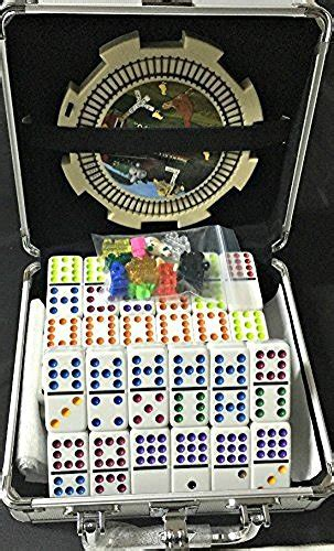 mexican train chicken domino set professional set   double   hobby leisure mall