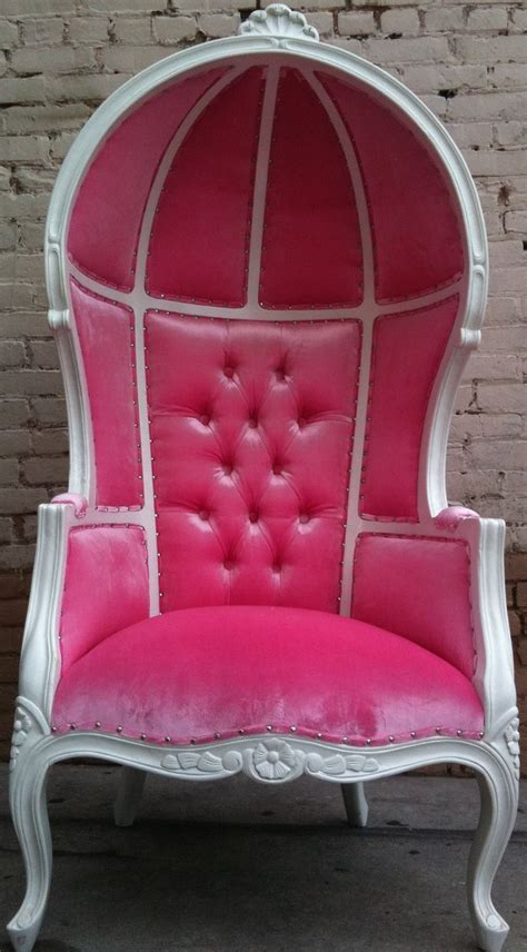 pink chairs pink white porters chair princess throne egg