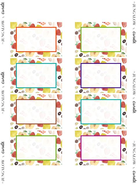 free labels template 16 per sheet focus on healthy living free printable labels