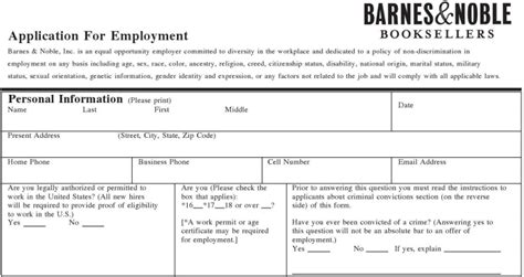 barnes and noble cover letter barnes noble inc application printable
