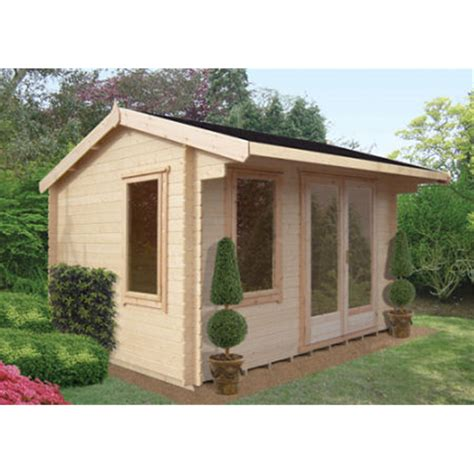 Shed Glazing by 3 59m X 2 99m Log Cabin Fully Glazed Doors 28mm
