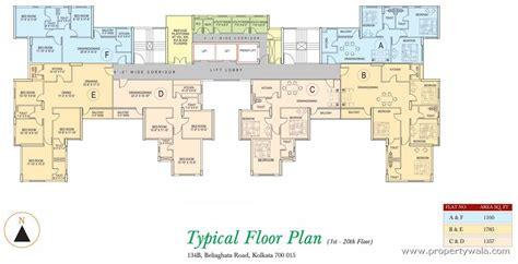 map floor plan sunrise tower sealdah kolkata residential project
