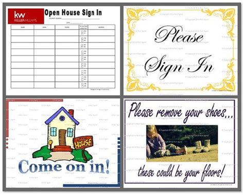 Keller Williams Open House Collection Keller Williams Open House Sign In Sheet Template