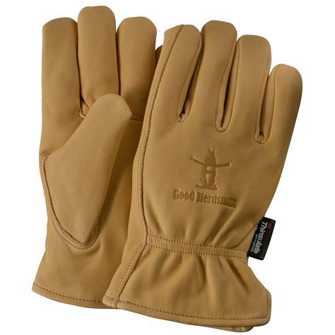 Cowhide Leather Work Gloves - custom imprinted lined premium grain cowhide leather work