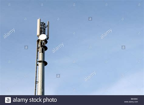 mobile cell phone mast network base station aerial antenna masts stock photo royalty free image