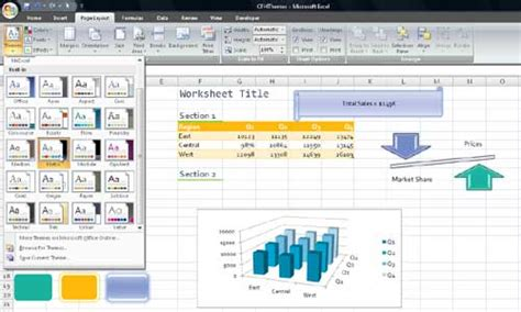 themes in excel 2007 document themes in excel 2007 techtv articles mrexcel