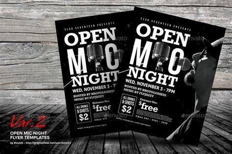 Open Mic Night Flyer Templates By Kinzi21 Graphicriver Open Mic Poster Template