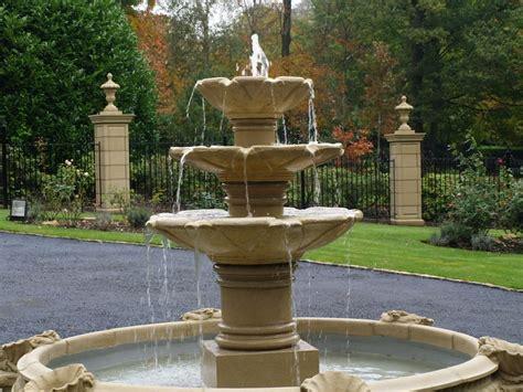 three tier cast water feature garden ebay