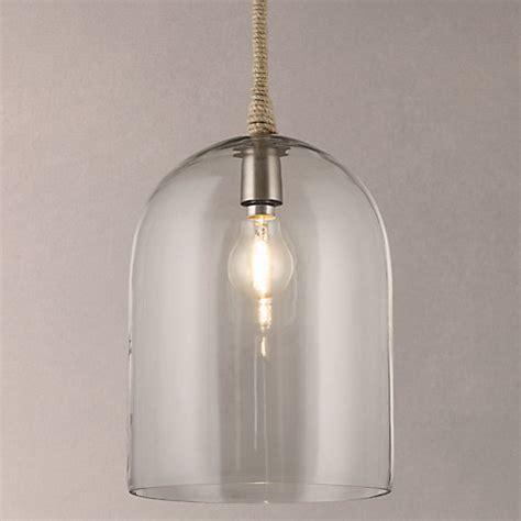 Buy John Lewis Cloche Glass Pendant Ceiling Light Online Cloche Pendant Light