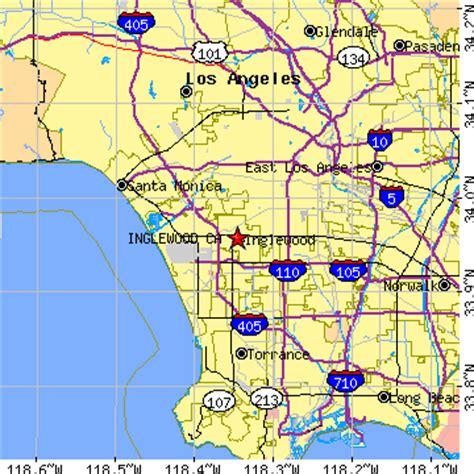 inglewood california map inglewood ca