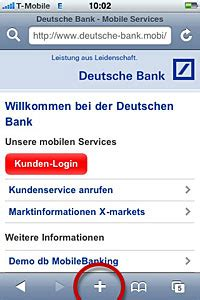 deutsche bank banking kunden login db mobile