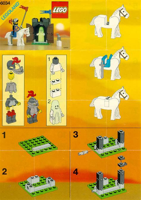 Building A Home by Lego Black Monarch S Ghost Instructions 6034 Castle