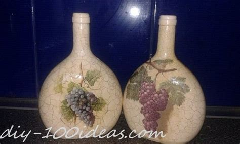 Decoupage Wine Bottles - decoupage wine bottle diy 100 ideas