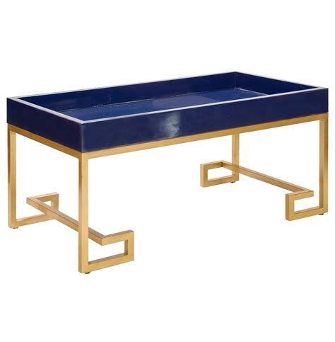 davinci regency navy blue gold coffee table