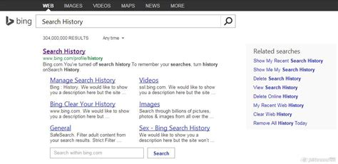 bing history clear search history in bing perfectneed