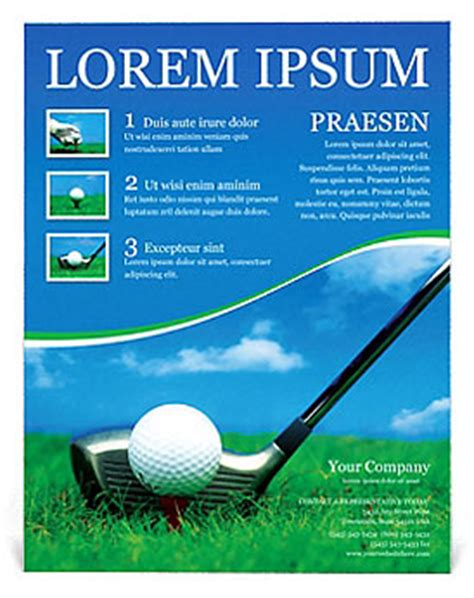 Golf Flyer Template Design Id 0000000440 Smiletemplates Com Golf Journal Template