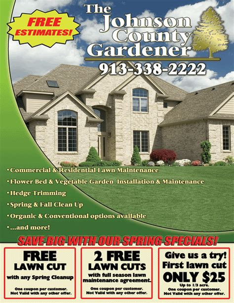 Home Design Services Start Up Guide Lawn Care Flyer Lawn Care Business Tips