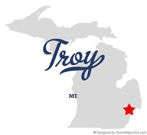 Troy Michigan map of troy oakland county mi michigan