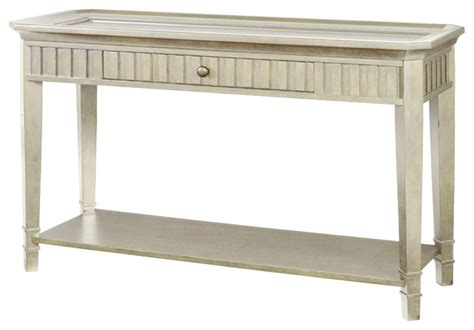 hammary portsmouth sofa table in coastal white