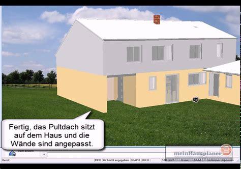 pultdach garage pultdach auf einen anbau garage setzen mit meinhausplaner