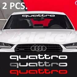 2 pcs audi quattro windshield decal sticker a3 a4 a5 a6