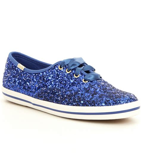 Blue Sneakers lyst kate spade new york keds for glitter keds sneakers in blue