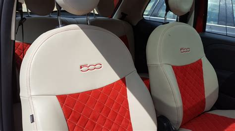 fiat 500 leather seat covers the fiat 500 tailor made car seat covers