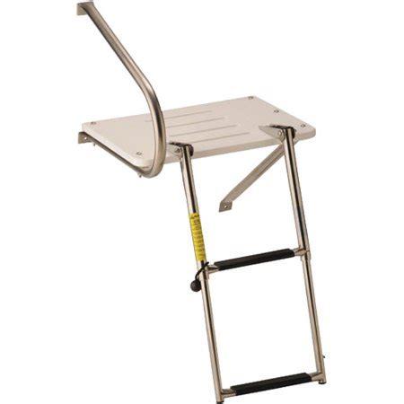 outboard motor boat ladder garelick eez in swim platform with 2 step telescoping