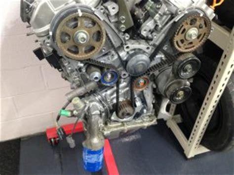 honda  engine oil leak   timing belt area