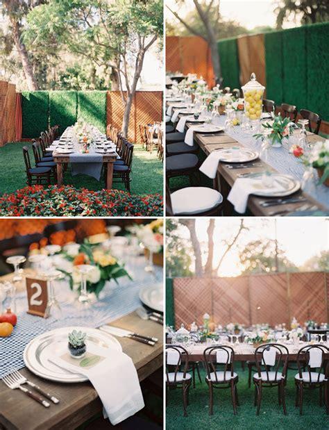 Backyard Wedding Advice California Backyard Wedding Matt Paul Green Wedding