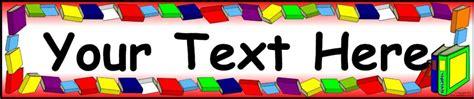 printable reading banner editable books reading display banner template sb9265