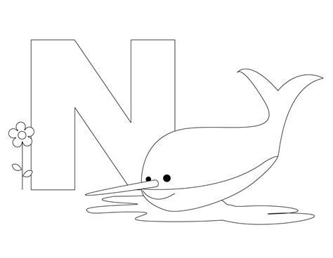 single alphabet coloring pages animal alphabet letter n is for nurse shark here s a