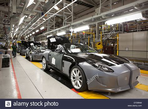 jaguar car inside inside jaguar car plant in castle bromwich birmingham on