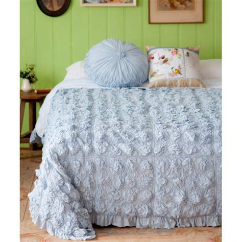 lazybones bedding lazybones bedding lucia cloudy blue quilt cotton