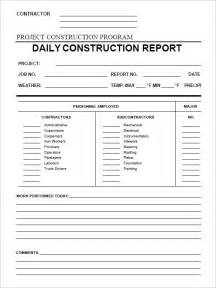 Construction Inspection Report Template by Daily Construction Report Template 25 Free Word Pdf