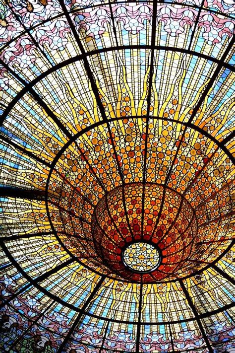 glass roof stained glass and barcelona on pinterest