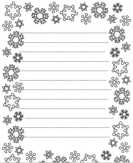 6 Best Images Of Free Printable Snowflake Writing Paper Snowflake Writing Paper Template Free Snowflake Stationery Template