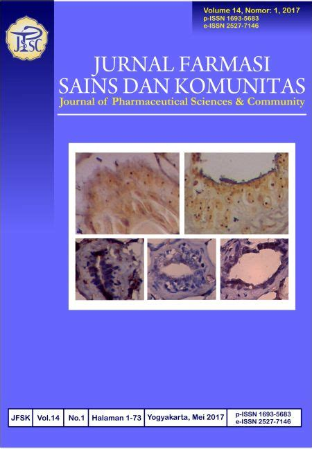 Notebooks Farmasi Pharmacy journal of pharmaceutical sciences and community