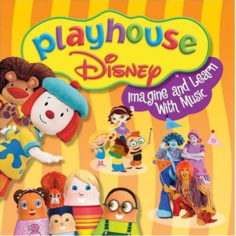 play house music amazon com various artists playhouse disney imagine and learn with music 6x8 music