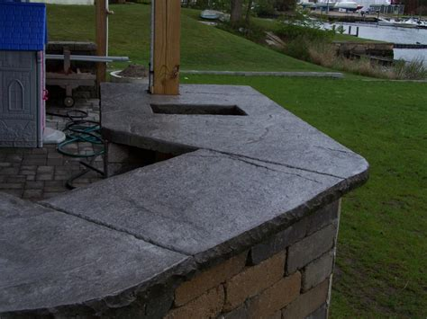 Best Outdoor Countertop by Gs Flatwork Llc Outdoor Sted Concrete Countertops