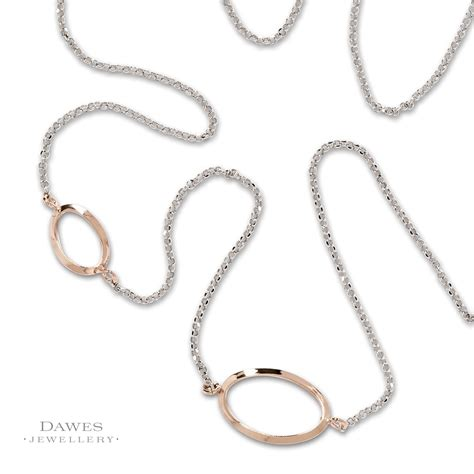 Twist Silver Necklace sterling silver necklace with twist sections 96cm dawes