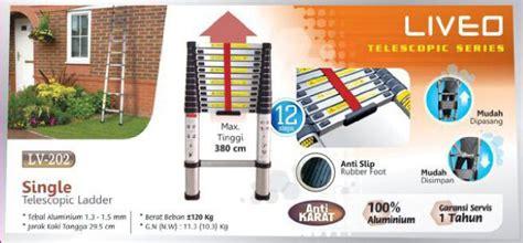 Tangga Teleskopik 2 9 M Telescopic 2 9 M Pln Telkom Lipat Aluminium tangga single dan magig telescopic ladder liveo
