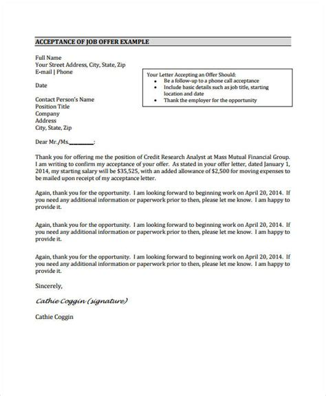 offer acceptance letter 8 free pdf documents free premium templates