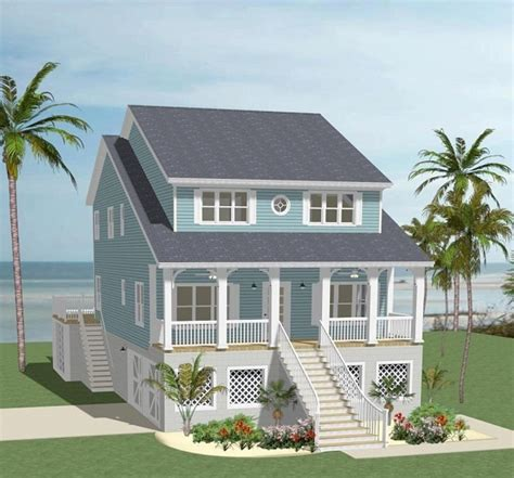 carteret pointe beach front style house plan