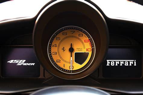 ferrari speedometer ferrari 458 spider egmcartech