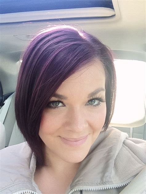 dark eggplant hair color the gallery for gt dark brown hair with black highlights