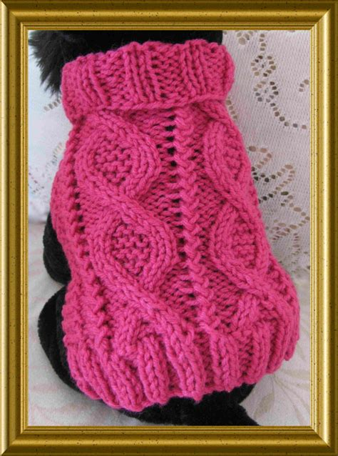 patterns for knitting dog sweaters with cables dog sweater knitting pattern aran twists called entwined paths