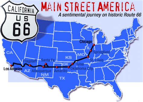 route 66 map california just breathe chicago to california on route 66