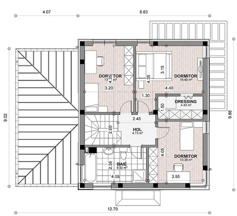 small 3 story house plans small two story house plans small 2 story open house plan