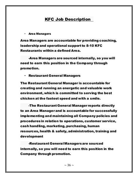 Experience Letter Kfc Subway Description Obetut Human Resource Management Of Kfc